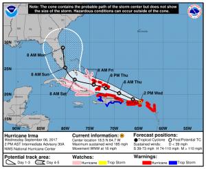 Hurricane Irma 5-day forecast