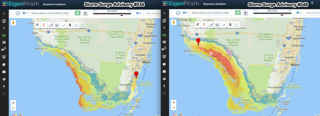 Hurricane Irma post event analysis - storm surge advisory comparison