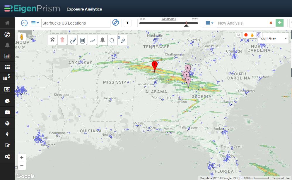 Florida Southeast Coast Map.Severe Thunderstorms Take Aim At Florida Southeast Coast Eigenrisk