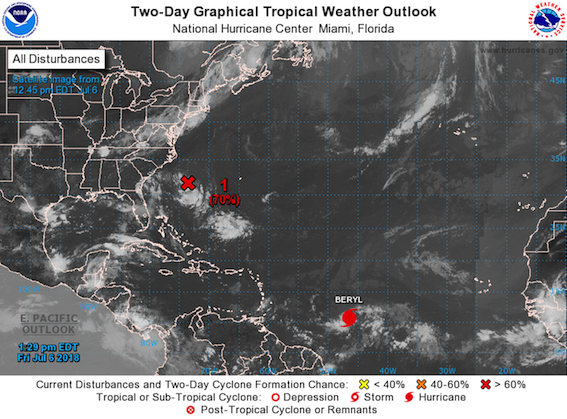 NHC Atlantic tropical weather outlook July 6 2018