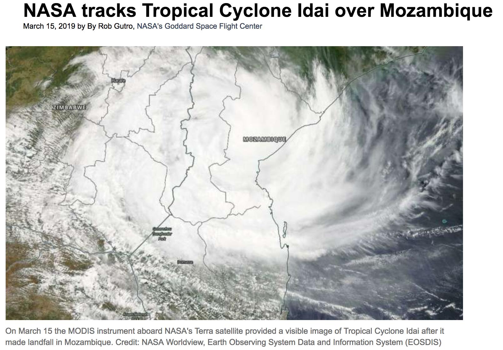 Tropical cyclone Idai