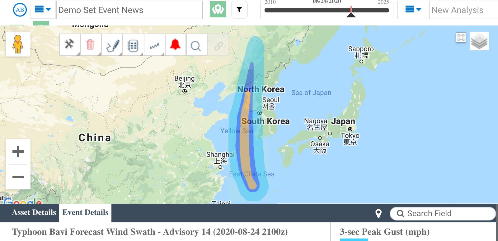 Typhoon Bavi 2020
