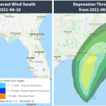 Tropical Depression Three developing in the Gulf Coast, US