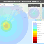Earthquake of M 8.2 caused Tsunami Warning in Alaska, Strongest in Decades